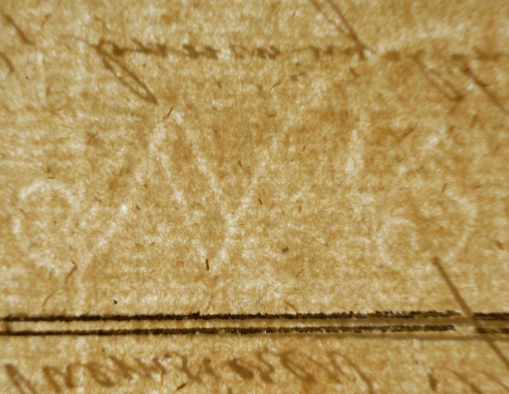 Wasserzeichen in Papier