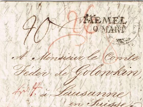1822 aus Petersburg i.d.Schweiz, Vds